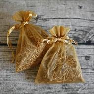 【MU LIFE 荒木雕塑藝品】純天然芳香檀木雪紗袋香包(2包裝)