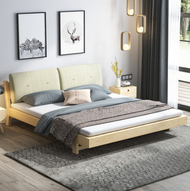 216x186cm Bed Frame INCLUDE MATTRESS and PILLOW Katil Besi Single Steel Powder king queen size modern japanese home king koil bedding house furniture design Coat Metal wood bedroom nice quality big expensive high class good steady good nice NSY