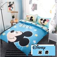 迪士尼DISNEY【米奇】床包兩用被四件組-米妮/米奇/史迪奇/小熊維尼 單人 雙人 加大