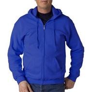 【美國Gildan】連帽拉鍊外套.18600系列.運動風【經典帽T外套、寶藍色51C】