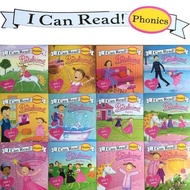 12books/set I Can Read Phonics Pink Alicious My Very First Picture Books English Reading Book for Children Kids Baby Pocket Story Book Gifts