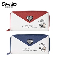 【日本正版】凱蒂貓 信封造型 長夾 皮夾 錢包 Hello Kitty 三麗鷗 Sanrio