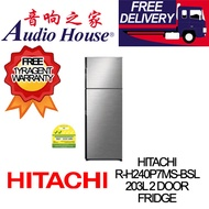 HITACHI R-H240P7MS-BSL 203L 2 DOOR FRIDGE ***1 YEAR HITACHI WARRANTY***
