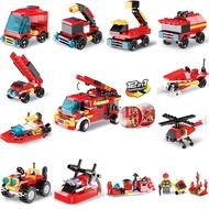 熱銷消防車積木扭蛋益智啟蒙拼裝小積木積木玩具禮物禮物贈品