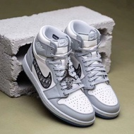 Original Ready Stock Dior X Nike Air Jordan 1 High Men Women Basketball Sneakers running shoes