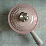 Le  creuset 貝殼粉花鋼頭16cm單柄醬汁鍋