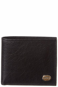 Gucci Mens  Interlocking G Leather Wallet