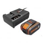 WORX 威克士 WA3609 鋰電池充電套裝 (橙色) | 4.0Ah電池+6A充電 | 香港行貨