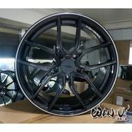 【萬有汽車輪胎鋁圈中心】全新ASGA ARF04亮黑旋壓輕量化17吋鋁圈