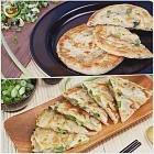 慕鈺華 黃金三星蔥油餅5片/包x2+古早味蔥油餅5片/包x2