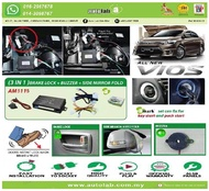 Amark OEM Brake Lock & Side Mirror Fold Toyota Vios 2014-2019
