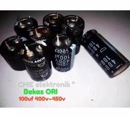 2 pcs Elko elco 100uf 400v 100u 400v atau 100uf 450v 100u 450v bekas cabutan original
