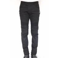 [嚴選代購]  BALMAIN 黑色拼接牛仔褲