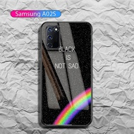 Softcase Glass Kaca Samsung A02s - IC024 - casing hp samsung a02s - casing hp samsung galaxy a02s - softcase samsung a02s - case samsung galaxy a02s - kesing hp samsung a02s - ponsel case samsung a02s - Pelindung Hp