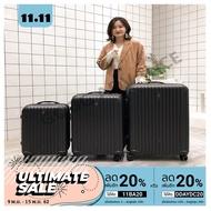 ส่งฟรี กระเป๋าเดินทาง กระเป๋าล้อลาก กระเป๋า 8 ล้อคู่ 360 ํ POLYCARBONATE รุ่น GTC14 ขยายข้างได้ GTC14  สีดำ 20นิ้ว เก็บเงินปลายทาง