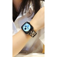 【MoMo】重磅 優選 現貨MO適用蘋果手表表帶 serise iwatch4手表帶個性真皮貼皮硅膠apple wat