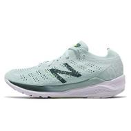 【NEW BALANCE】NB 跑鞋 運動鞋 針織 輕量 透氣 綠 女鞋 -W890BG7B