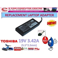 LAPTOP ADAPTER FOR TOSHIBA SERIES 19V 3.42A (5.5MM*2.5MM)