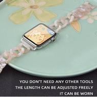 ใช้กับกลุ่มแอปเปิ้ล Iwatch6-Se สายคล้อง Applewatch5-สี่ในสามแทนสายรัดข้อมือขนาดเล็ก Sweet Wind