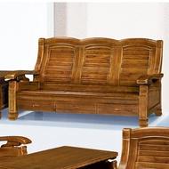 19 歡樂購-928型樟木色實木組椅-3人/三人木椅/木沙發 KH9-4