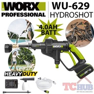 WORX Hydroshot Pressure Cleaner (4.0AH Set). Come with Hose Detergent Nozzle and Lance