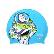 SPEEDO 成人矽膠泳帽-巴斯光年-玩具總動員 迪士尼 游泳 戲水 SD808385F289 藍綠白