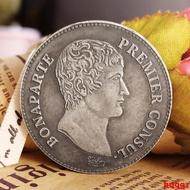 現貨法國拿破侖5法郎銀幣 歐洲硬幣外國錢幣仿古銀元世界人物硬幣鑒賞