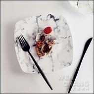 大理石紋系列餐具 正方盤 西餐盤 Z080-G *文昌家具*