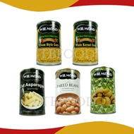 Wilmond Cream Style Sweet Corn, Whole Kernel Corn, Mushroom In Brine, Asparagus, Baked Beans Halal
