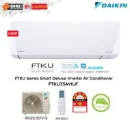 Daikin 1.5HP SMART Deluxe Inverter Air Conditioner FTKU Serie 1.5hp wall mounted FTKU35AV1LF - 5 star Energy Saving AirCond,Air Cond,冷气机
