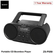 Sony ZS-PS50 Portable CD Boombox Player Speaker FM Radio USB Audio Aux Local 12 Months Warranty