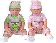 【晴晴百寶盒】精緻娃娃(穿衣)必勝套組 保母證照考試 保母娃娃+有牙縫齒模+紗布衣+長袍+小紗布巾*2+尿布+牙刷