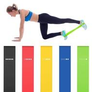 5PCS วงต้านทานโยคะยืดห่วงยางออกกำลังกายอุปกรณ์ฝึกความแข็งแรง Body Pilates Strength Training
