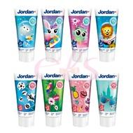 Jordan 水果味兒童牙膏 0~5歲/6~12歲 50ml 圖案隨機 二款供選 ☆艾莉莎ELS☆