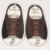 GETEK สีรองเท้าผ้าใบมีเชือกผูกเชือกผูกรองเท้ายางยืด 100% ซิลิโคน Trainers เชือกผูกรองเท้าผู้ใหญ่