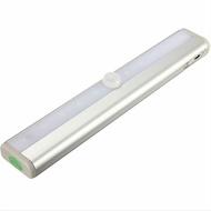 10 LED 長鋁條燈 人體感應燈 白光 電池智能小夜燈 逃生燈 樓道櫥櫃燈 露營燈 自動感應【SV9670】BO雜貨
