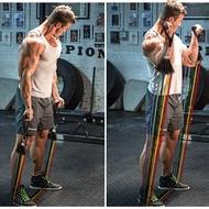 【ใหม่ชุด 11 ชิ้น】ยางยืดออกกำลัง ยางยืดออกกำลังกาย เชือกดึงออกกำลังกาย แบบมีที่เหยียบและด้ามจับโฟม รุ่นสายแรงต้าน 5 เส้น!!! แรงต้านสูง