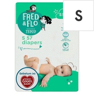 Tesco Fred & Flo Diapers S 3kg-6kg 57 Pieces