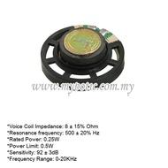 Speaker 0.25 Watt 8 ohm