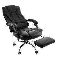 Happybuy Executive Swivel Office Chair with Footrest Adjustable High Ergonomic Office Recliner Chair Black Office Reclining Chair