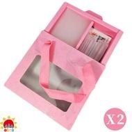 MIT【olina】SOFF 口罩減壓護套-乾燥玫瑰+收納夾~寵愛媽咪禮盒-2盒組