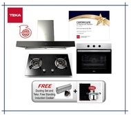 Teka DHW 90 TO (1800m3/h) Hood + G 78 2G AI AL TR Hob (5.0KW) + Built In Oven HBB605 SS (6 Cooking Functions) with Free Gift