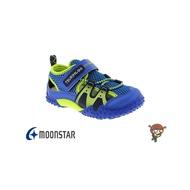 Moonstar 月星 TSUKIHOSHI 小童護趾涼鞋 透氣 寶寶機能鞋 藍色