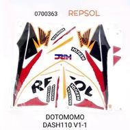 WAVE DASH 110 V1  DASH110 V1  HONDA STICKER REPSOL BODY COVER SET  DOTOMOMO