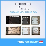 [SG seller] Legrand Mounting box Galion Mallia Black White Silver Rose Gold Champagne