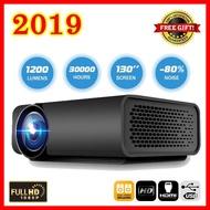 โปรเจคเตอร์ รุ่นใหม่ ปี 2019 ความสว่าง 1200 ลูเมน ภาพสูงสุด 138 นิ้ว 1080P HD Projection Mini LED Projector - YG520 สีดำ