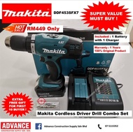 Makita Battery Power Driver Drill Special Offer Combo Set RM449 DDF453SFX7 ( Free Mystery Gift )『1 Year Warranty Original Makita Products』