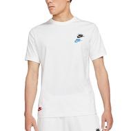 NIKE NSW CLUB ESSENTIALS TEE短袖 短T 刺繡 多LOGO 白色 男生【DJ1569-100】