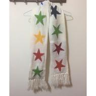 彩色星星針織短圍巾