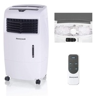Honeywell 500-694CFM Portable Evaporative Cooler, Fan & Humidifier with Ice Compartment & Remote, CL25AE, White
